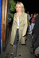 Faye Tozer at the &quot;Everybody's Talking About Jamie&quot; theatre cast stage door departures, Apollo Theatre, Shaftesbury Avenue, London, England, UK, on Friday 10th May 2019.<br /> CAP/CAN<br /> &copy;CAN/Capital Pictures