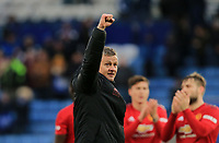 Manchester United Interim Manager Ole Gunnar Solskjaer applauds the fans after during the Premier League match between Leicester City and Manchester United at King Power Stadium on February 3rd 2019 in Leicester, England. (Photo by Leila Coker/phcimages.com)<br /> Foto PHC Images / Insidefoto <br /> ITALY ONLY