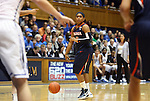 02 January 2012: Virginia's Ariana Moorer. The Duke University Blue Devils defeated the University of Virginia Cavaliers 77-66 at Cameron Indoor Stadium in Durham, North Carolina in an NCAA Division I Women's basketball game.