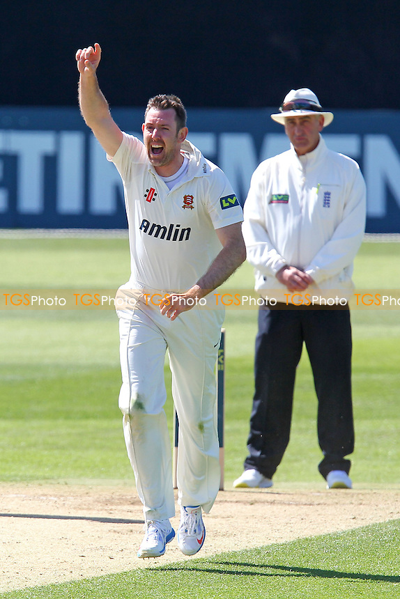 David Masters of Essex celebrates the wicket of George Bailey - Essex CCC vs Hampshire CCC - LV County Championship Division Two Cricket at the Essex County Ground, Chelmsford - 01/05/13 - MANDATORY CREDIT: Gavin Ellis/TGSPHOTO - Self billing applies where appropriate - 0845 094 6026 - contact@tgsphoto.co.uk - NO UNPAID USE.