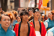 Participants in the annual Nagoya Dance Festival, known as Domatsuri in Japanese