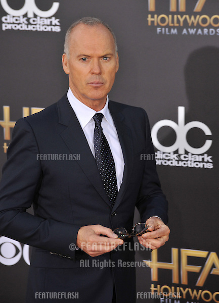 Michael Keaton at the 2014 Hollywood Film Awards at the Hollywood Palladium.<br /> November 14, 2014  Los Angeles, CA<br /> Picture: Paul Smith / Featureflash