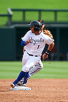 Surprise Saguaros shortstop Ramon Torres (1) running the bases during an Arizona Fall League game against the Salt River Rafters on October 20, 2015 at Salt River Fields at Talking Stick in Scottsdale, Arizona.  Surprise defeated Salt River 3-1.  (Mike Janes/Four Seam Images)