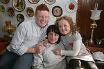 Niamh and Sean Tester welcome Natasha Huenchko home from Chernobyl...Photo NEWSFILE/Jenny Matthews.(Photo credit should read Jenny Matthews/NEWSFILE)....This Picture has been sent you under the condtions enclosed by:.Newsfile Ltd..The Studio,.Millmount Abbey,.Drogheda,.Co Meath..Ireland..Tel: +353(0)41-9871240.Fax: +353(0)41-9871260.GSM: +353(0)86-2500958.email: pictures@newsfile.ie.www.newsfile.ie.FTP: 193.120.102.198.
