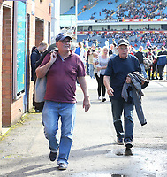 Blackburn Rovers fans walk out of the ground after Doncaster Rovers scored their third goal<br /> <br /> Photographer Stephen White/CameraSport<br /> <br /> The EFL Sky Bet League One - Blackburn Rovers v Doncaster Rovers - Saturday August 12th 2017 - Ewood Park - Blackburn<br /> <br /> World Copyright &copy; 2017 CameraSport. All rights reserved. 43 Linden Ave. Countesthorpe. Leicester. England. LE8 5PG - Tel: +44 (0) 116 277 4147 - admin@camerasport.com - www.camerasport.com
