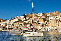 The historic port of Hydra, Greek Saronic Islands.