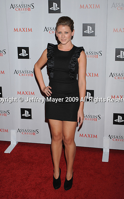 "WEST HOLLYWOOD, CA. - November 11: Lauren ""Lo"" Bosworth arrives at the Maxim And Ubisoft Celebrate The Launch Of 'Assassin's Creed II' at Voyeur on November 11, 2009 in West Hollywood, California."