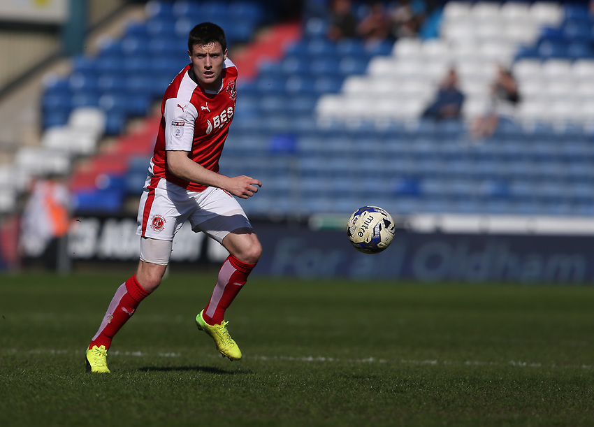 Fleetwood Town's Bobby Grant<br /> <br /> Photographer Stephen White/CameraSport<br /> <br /> The EFL Sky Bet League One - Oldham Athletic v Fleetwood Town - Saturday 8th April 2017 - SportsDirect.com Park - Oldham<br /> <br /> World Copyright &copy; 2017 CameraSport. All rights reserved. 43 Linden Ave. Countesthorpe. Leicester. England. LE8 5PG - Tel: +44 (0) 116 277 4147 - admin@camerasport.com - www.camerasport.com