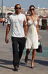 Motorsports / Formula 1: World Championship 2009, GP of Europe, Lewis Hamilton with girlfriend Nicole Scherzinger
