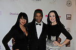 Millie Rivers & Kenya Cagle & Caralissa Stanley at Color of Beauty Awards hosted by VH1's Gossip Table's Delaina Dixon and Maureen Tokeson-Martin on February 28, 2015 with red carpet, awards and cocktail reception at Ana Tzarev Gallery, New York City, New York.  (Photo by Sue Coflin/Max Photos)