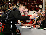 New Zealand&rsquo;s Katrina Grant (Capt) has a selfie with fans  <br /> <br /> Swansea University International Netball Test Series: Wales v New Zealand<br /> Ice Arena Wales<br /> 08.02.17<br /> &copy;Ian Cook - Sportingwales