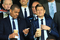 Mark Bright alongside Crystal Palace Chairman Steve Parish during Crystal Palace vs Brighton & Hove Albion, Premier League Football at Selhurst Park on 14th April 2018