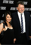 "HOLLYWOOD, CA. - April 30: Marina Sirtis and Jonathan Frakes arrive at the Los Angeles premiere of ""Star Trek"" at the Grauman's Chinese Theater on April 30, 2009 in Hollywood, California."
