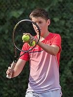 Hilversum, Netherlands, August 8, 2016, National Junior Championships, NJK, Jens Hoogendam (NED)<br /> Photo: Tennisimages/Henk Koster