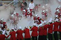 4 November 2006: Josiah Vinson, Matt Kopa, Allen Smith, Josh Catron, Brandon Willetts, John Kyed, Mark Mueller, Jerome Jackson, David Long and the team during Stanford's 42-0 loss to USC at Stanford Stadium in Stanford, CA.