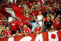 CALI -COLOMBIA-15-04-2014. Hinchas  del America de Cali durante el encuentro contra el Real Cartagena ,partido por el Torneo Postobon de la segunda division jugado en el estadio Pascual Guerrero de la ciudad de Cali./ America de Cali fans during the game against Real Cartagena, match the Postobon tournament Cup played in the second divison Pascual Guerrero stadium in Calii.  Photo: VizzorImage / Juan Carlos Quintero / Stringer
