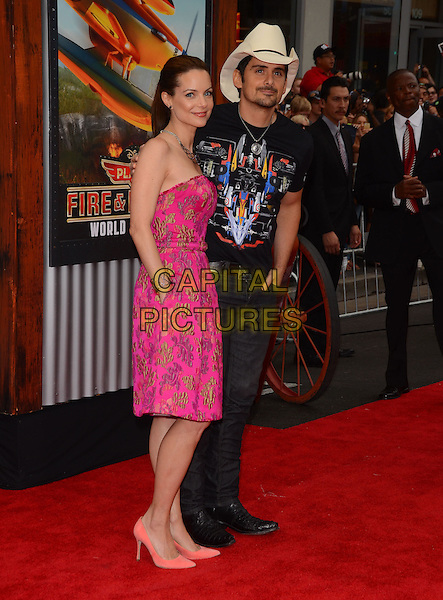15 July 2014 - Hollywood, California - Kimberly Williams, Brad Paisley. Arrivals for the premiere of Disney's &quot;Planes: Fire and Rescue&quot; held at the El Capitan Theater in Hollywood, Ca. <br /> CAP/ADM/BT<br /> &copy;BT/ADM/Capital Pictures