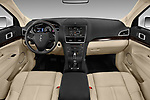 Stock photo of straight dashboard view of a 2018 Lincoln MKT Reserve 5 Door SUV