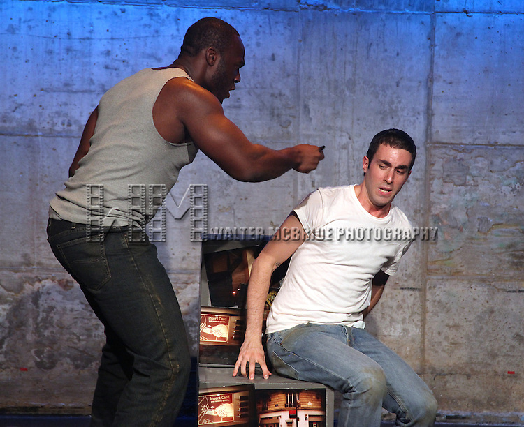 Dan Heching, Patrick Byas.starring in Dan Heching Presents 'Sammy Gets Mugged'.at the Living Theatre in New York City.