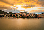 Dusk on the Croatian coast near Dubrovnik