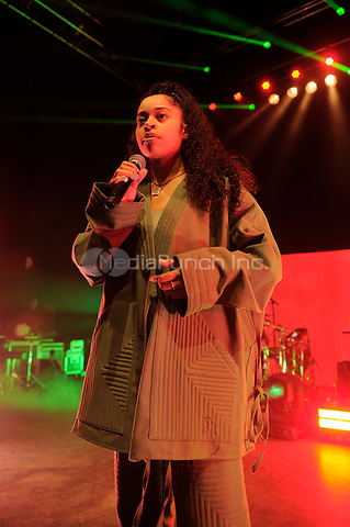 LONDON, ENGLAND - JANUARY 10: Ella Mai performing at Shepherd's Bush Empire on January 10, 2019 in London, England.<br /> CAP/MAR<br /> &copy;MAR/Capital Pictures /MediaPunch ***NORTH AND SOUTH AMERICAS ONLY***