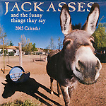 Published photography by Larry Angier..Jackasses 2005 Calendar cover, Browntrout Publishers
