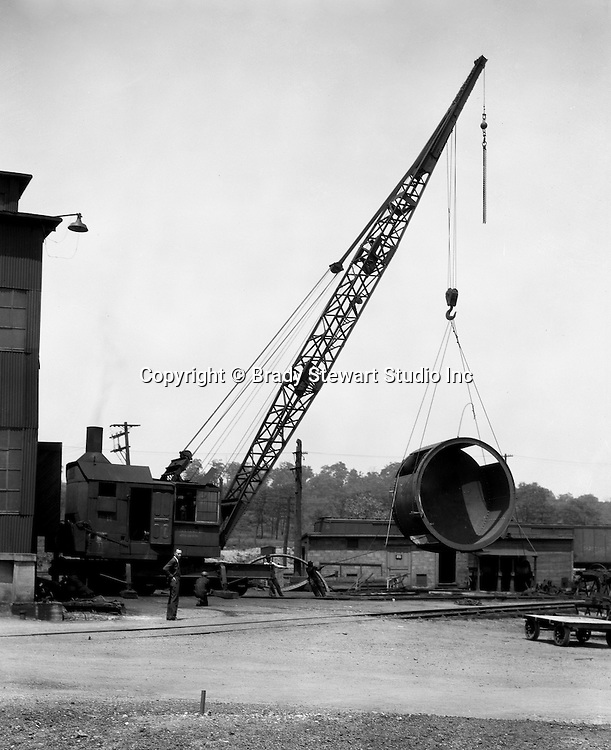 Pittsburgh PA:  On location photography for the Swindell Dressler Corporation. Swindell fabricated steel parts for a steel plant being build by the John F Casey Company - 1936