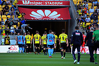 Players walk in at halftime during the A-League football match between Wellington Phoenix and Sydney FC at Westpac Stadium in Wellington, New Zealand on Saturday, 23 December 2017. Photo: Dave Lintott / lintottphoto.co.nz
