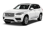 2018 Volvo XC90 4WD Inscription 5 Door SUV angular front stock photos of front three quarter view