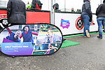Girls' Football Week event outside the stadium before  the Championship league match at Bramall Lane Stadium, Sheffield. Picture date 28th April, 2018. Picture credit should read: Harry Marshall/Sportimage