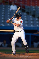 Connecticut Tigers designated hitter Corey Baptist (11) at bat during the first game of a doubleheader against the Brooklyn Cyclones on September 2, 2015 at Senator Thomas J. Dodd Memorial Stadium in Norwich, Connecticut.  Brooklyn defeated Connecticut 7-1.  (Mike Janes/Four Seam Images)