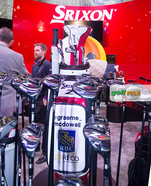 Srixon's exhibition during the 2016 PGA Merchandise Show, from the Orange County Convention centre, Orlando, Florida. 26/1/16<br /> Picture: Mark Davison | Golffile<br /> <br /> <br /> All photos usage must carry mandatory copyright credit (&copy; Golffile | Mark Davison)