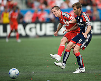 23 May 09: New England Revolution midfielder Steve Ralston #14 and Toronto FC midfielder Sam Cronin #2 in action during a game between the New England Revolution and Toronto FC.Toronto FC won 3-1.