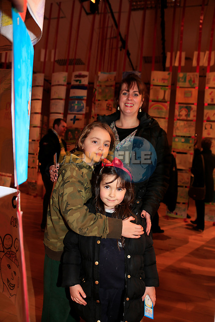Siobhan Newman and Muiren and Padraig White at the Art Exhibition &amp; Information Event in the Barbican centre by louth leader partnership.<br /> Picture: Fran Caffrey www.newsfile.ie