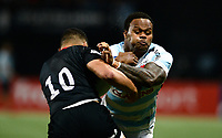 17th November 2019,  Paris La Défense Arena, Hauts-de-Seine, France; Champions Cup Rugby Union, Racing 92 versus Saracens;  Virimi Vakatawa (Racing ) is tackled by M  Vunipola (Saracens )