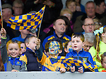 Young Sixmilebridge fans in the stand during their final against Clooney-Quin  at Cusack Park. Photograph by John Kelly.