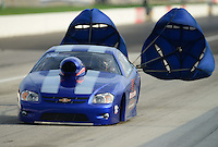 Sept. 1, 2012; Claremont, IN, USA: NHRA pro stock driver Steven Spiess during qualifying for the US Nationals at Lucas Oil Raceway. Mandatory Credit: Mark J. Rebilas-
