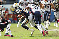 10/24/10 San Diego, CA: San Diego Chargers wide receiver Seyi Ajirotutu #89 during an NFL game played at Qualcomm Stadium between the San Diego Chargers and the New England Patriots. The Patriots defeated the Chargers 23-20.