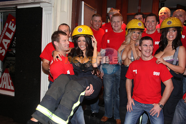 Nuts Girls Malene Espensen (Blonde) Lindsey Strutt and Casey Batchelor Launching the Drogheda Fire and rescue service calender 2010 at the earth night club in Drogheda..Photo: Fran Caffrey/www.newsfile.ie...