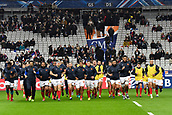 February 1st 2019, St Denis, Paris, France: 6 Nations rugby tournament, France versus Wales; French team warm-up