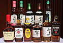 January 10, 2017, Tokyo, Japan - Suntory Spirits Limited displays the company's products as president Sho Semba announce the company's business strategy in Tokyo on Tuesday, January 10, 2017. (Photo by Yoshio Tsunoda/AFLO) LWX -ytd-