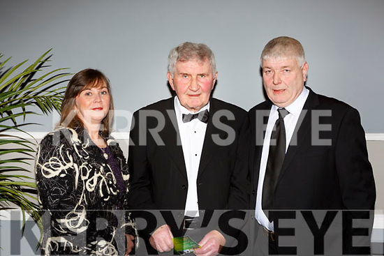Mick O'Dwyer with Liz and Haulie O'Dwyer at the Kerry Sports Stars awards in the INEC on Friday night