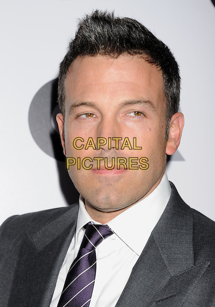 Ben Affleck.Arriving at the GQ Men Of The Year Party at Chateau Marmont Hotel in Los Angeles, California, USA..November 13th, 2012.headshot portrait white shirt purple tie grey gray.CAP/ROT/TM.©Tony Michaels/Roth Stock/Capital Pictures