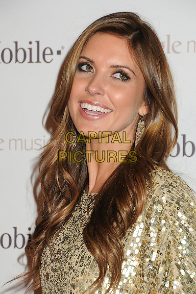 Audrina Patridge.T-Mobile Launch Party For Google Music held at Mr. Brainwash Studio, Hollywood, California, USA..November 16th, 2011.headshot portrait gold sequins sequined  .CAP/ADM/BP.©Byron Purvis/AdMedia/Capital Pictures.
