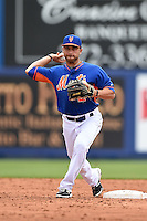 New York Mets second baseman Anthony Seratelli (2) during a spring training game against the Washington Nationals on March 27, 2014 at Tradition Field in St. Lucie, Florida.  Washington defeated New York 4-0.  (Mike Janes/Four Seam Images)