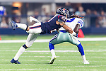 Houston Texans defensive back Darryl Morris (21) in action during the pre-season game between the Houston Texans and the Dallas Cowboys at the AT & T stadium in Arlington, Texas.