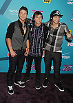 LOS ANGELES, CA - NOVEMBER 05: Drew Chadwick, Keaton Stromberg and Wesley Stromberg of Emblem3 arrive at FOX's 'The X Factor' finalists party at The Bazaar at the SLS Hotel Beverly Hills on November 5, 2012 in Los Angeles, California.