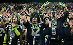 Cheering Seahawks fans at CenturyLink Field reached 136.6 decibels during the third quarter of Sunday night's game against the San Francisco 49ers, officially making The Clink the Guinness World Record holder for loudest stadium in Seattle, Washington on September 15, 2013. The Seattle Seahawks beat the 49ers 29-3. The Seahawks beat the 49ers 29-3. ©2013. Jim Bryant Photo. ALL RIGHTS RESERVED.