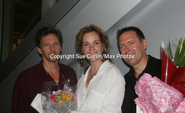 Andrew McCarthy (Director of this play & in Gossip Girl and Lipstick Jungle), Margaret Colin (ATWT)  and actor Victor Slezak both star in A Second Of Pleasure a part of Summer Shorts 3 Festival of New Ameican Short Plays on July 30, 2009 at 59 E 59 Theaters, New York City, New York. The play runs through August 25, 2009 - see schedule for days and times.  (Photo by Sue Coflin/Max Photos)