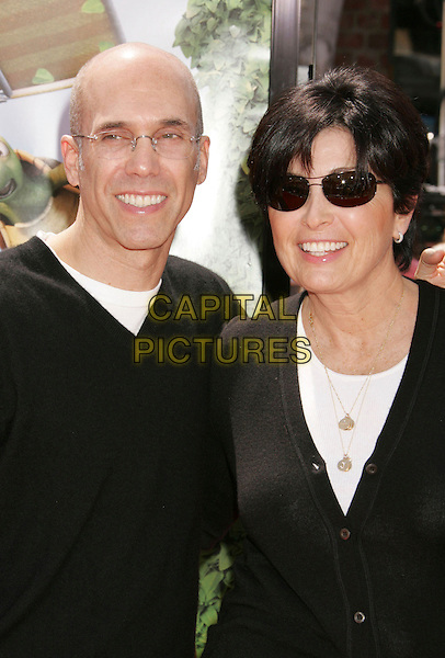 "JEFFREY KATZENBERG & GUEST.""Over The Hedge"" Los Angeles Premiere held at the Mann Village Theater, Westwood, California, USA..April 30th, 2006.Photo: Russ Elliot/AdMedia/Capital Pictures.Ref: RE/ADM.headshot portrait sunglasses shades.www.capitalpictures.com.sales@capitalpictures.com.© Capital Pictures."